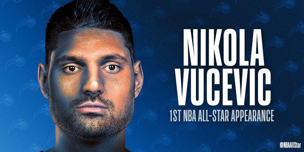 Making his FIRST #NBAAllStar appearance... @NikolaVucevic of the @OrlandoMagic!  #PureMagic #NikolaVucevic
