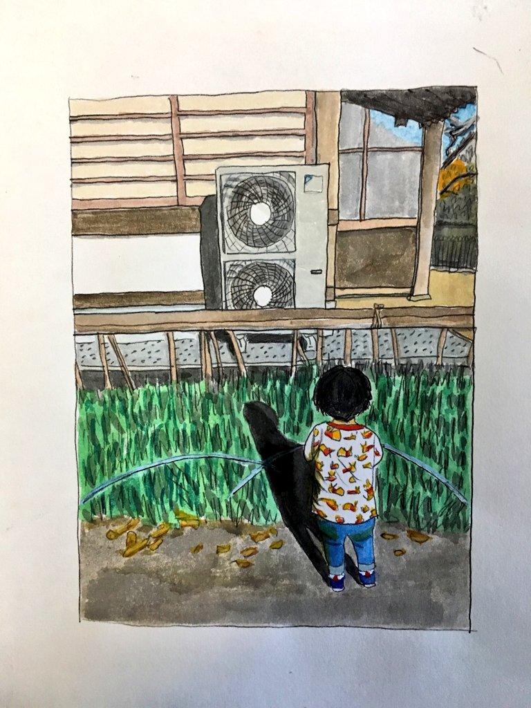 室外機が好きな孫の絵を描くおばあちゃん!祖母の愛が作品に溢れまくってるwww