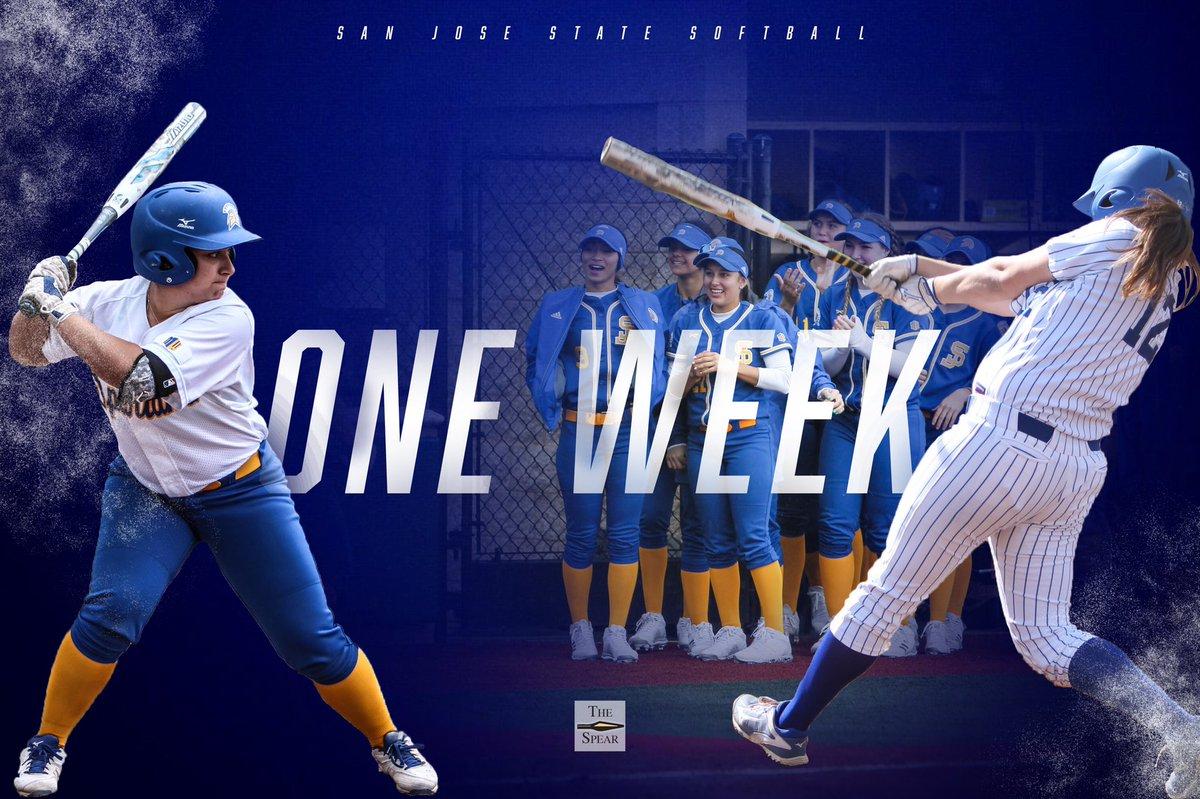 One. Week. Softball is coming 🔥🔥 @madisonaurin13   @georgiarblair