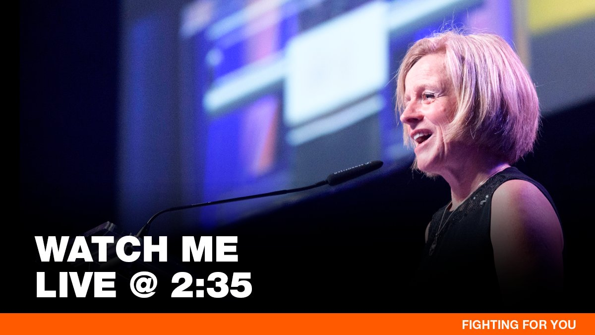 I'll be speaking again shortly. Join me live: https://www.facebook.com/rachelnotley/videos/331519874124911/… I'll be at the Alberta Mid-Sized Cities Mayors' and CAOs' Caucus.  Looking forward to taking their questions and talking about how we can keep working together to grow our cities and Alberta. #abmidsizedcities