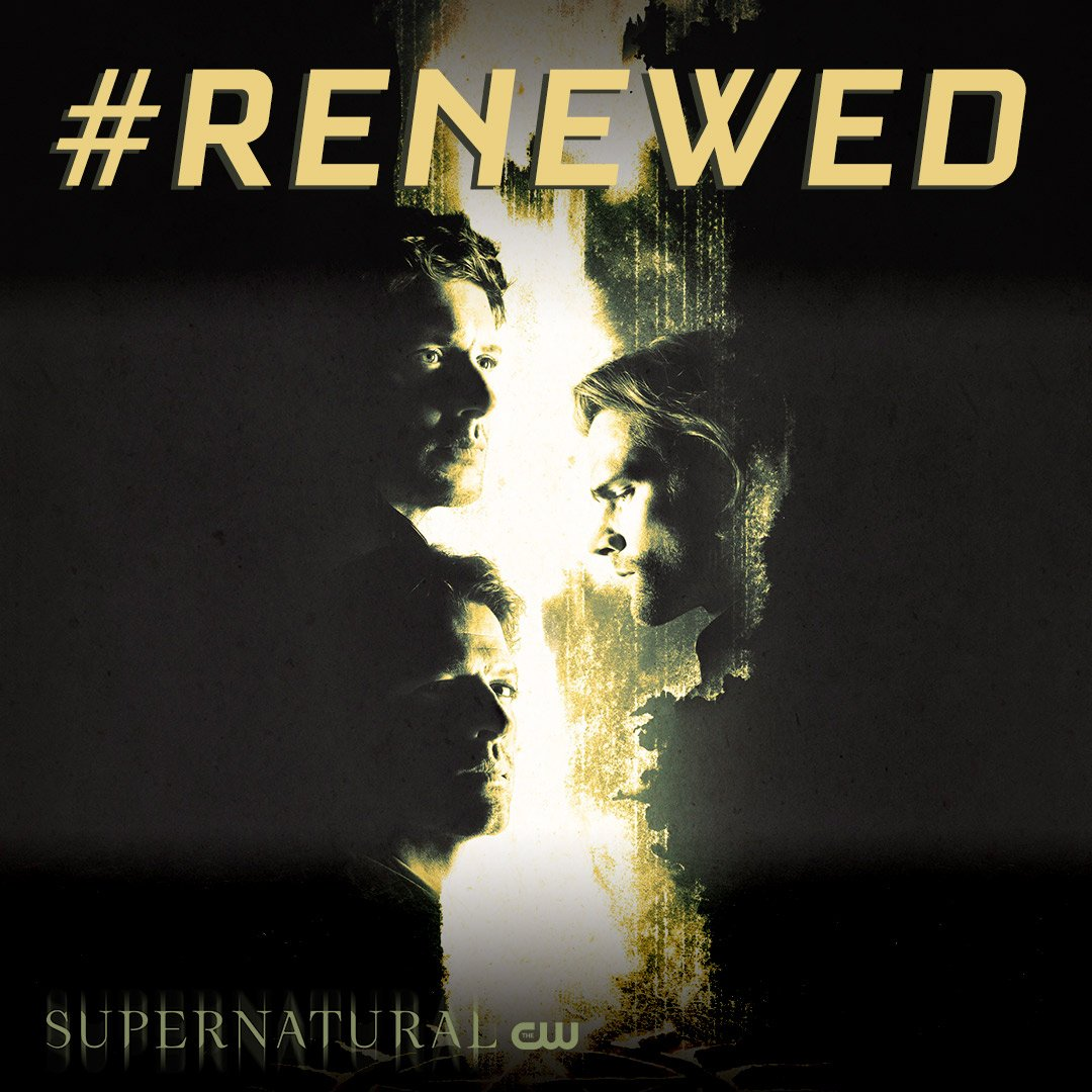 As long as there's evil in the world, the Winchesters will fight on. #Supernatural has been renewed for another season!