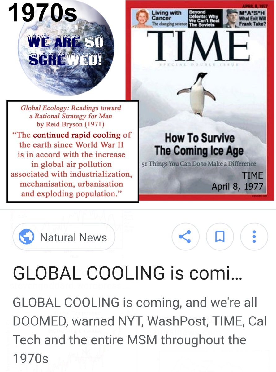 Algore In 70s We Had Polar Cooling By Late They Debunk The Idea Of