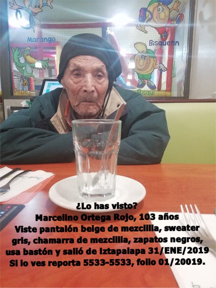 Se activa #AlertaPlateada para localizar a Don Marcelino de 103 años. ¿Lo has visto? Por favor abre la foto y dona un RT. #Iztapalapa #CiudaddeMéxico