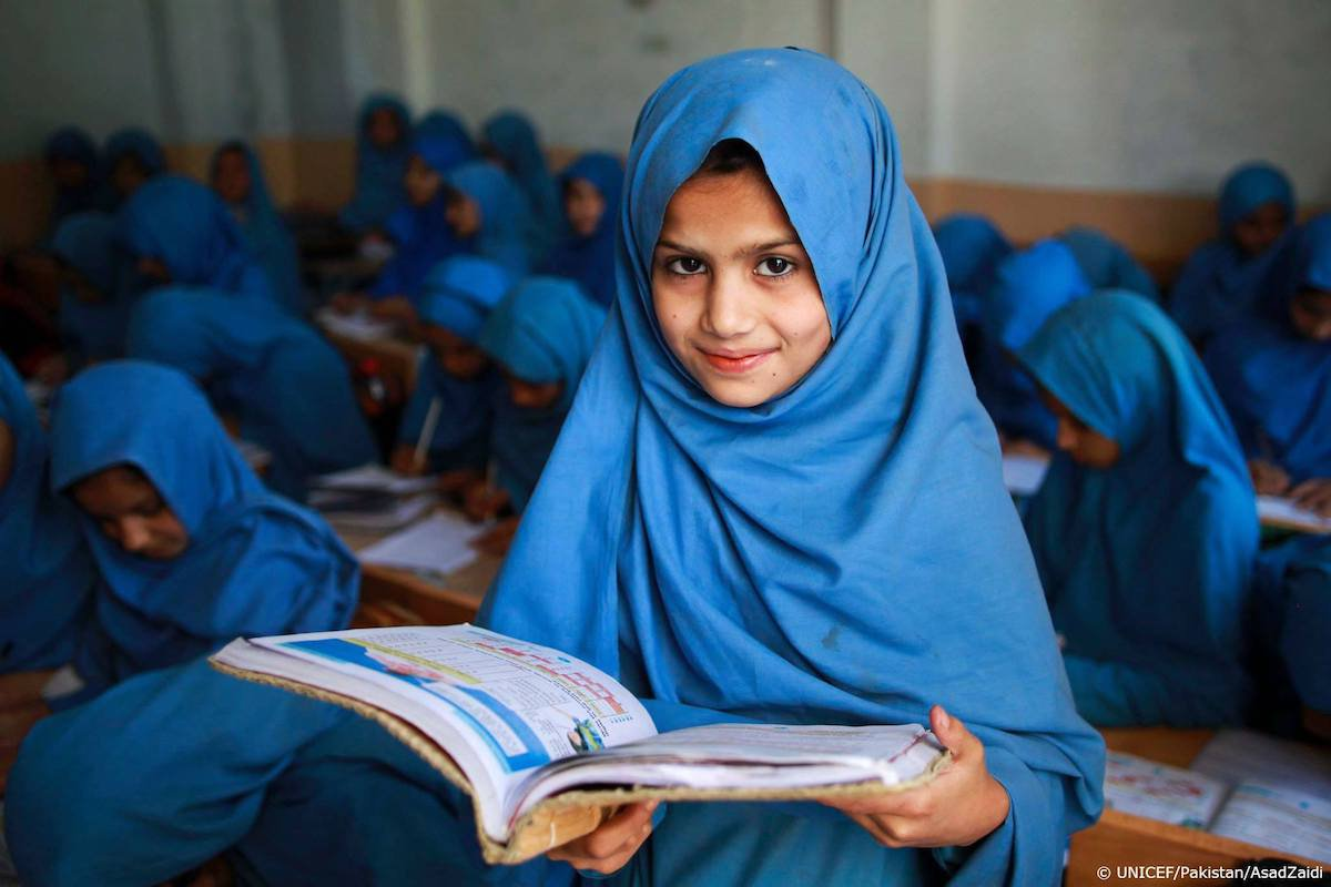 Today a reader, tomorrow a leader.  #ForEveryChild, education.