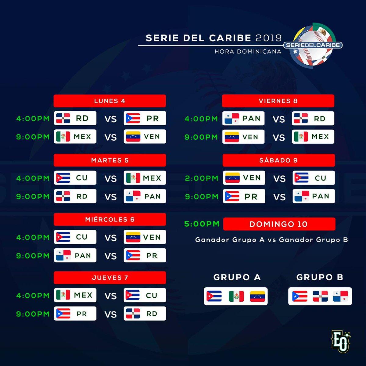 Eobaseballclub Di Twitter Calendario De La Serie Del Caribe 2019