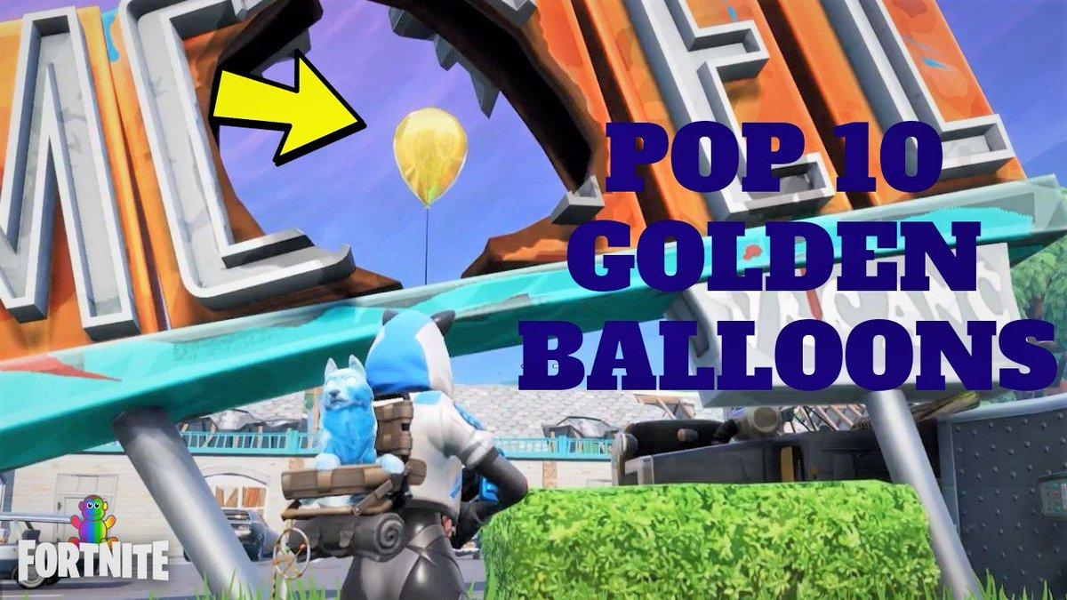 pop 10 balloons fortnite