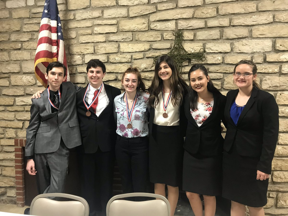 They may not be the results we hoped for, but these young people made us proud today. We placed 3rd, 4th, and 5th at District CX, and @heysk9 and @mac_lendon are alternates to UIL State in March.