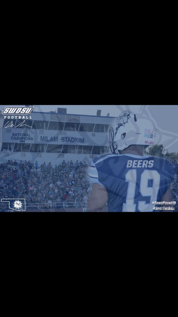 Blessed to receive my first college football offer thank you @SWOSUFootball #SpotTheBall #DawgPound19