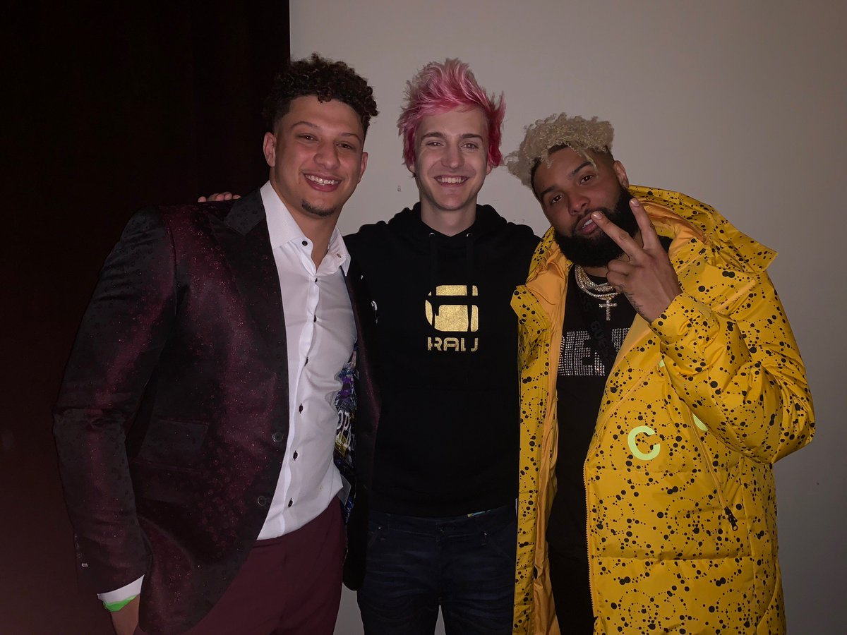 Epic night with some legends @PatrickMahomes5 @obj