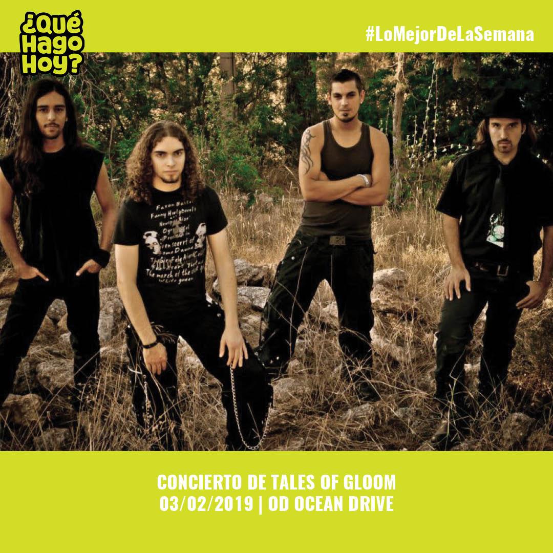 📌 03/02/2019 | 19h00 | En @ODoceandrive podrás disfrutar del concierto de la banda The Tales of Gloom, una banda de #rock alternativo de #Eivissa con un sonido fresco en la escena musical actual. Entrada libre con aforo limitado.