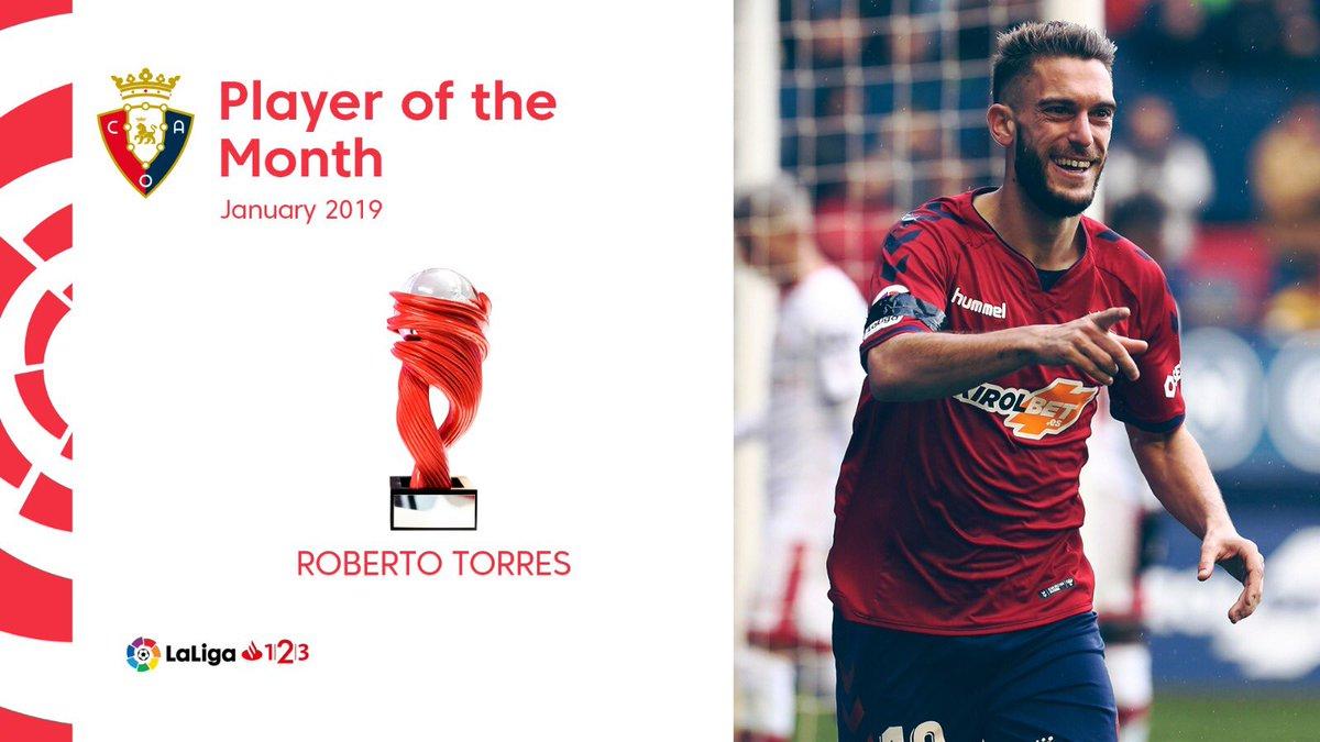 Desde La Banda - Fútbol Navarro (DLB-FN) | Roberto Torres nombrado MVP en el mes de enero de 2019.