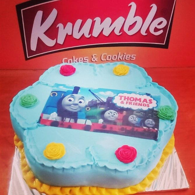 Astonishing Krumble On Twitter Thomas And Friends Themed Cake Order Now Birthday Cards Printable Opercafe Filternl