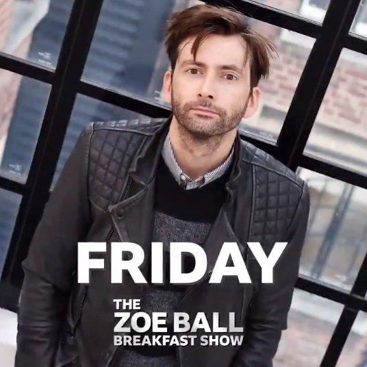 David Tennant on The Zoe Ball Show on BBC Radio Two - Friday 1st February 2019