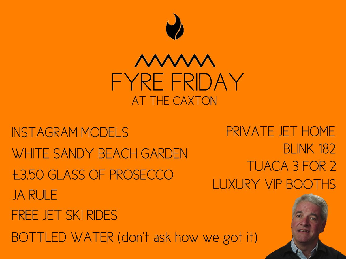 FYRE FRIDAY AT THE CAXTON!! The best, most exclusive and luxurious pub in Brighton, so much to offer.   Book your place now!  #Brighton #Exclusive #fyre #fyrefraud #fyrefestival #Tuaca #JaRule #Ad #MayNotBeTrue #LuxuryLifestyle