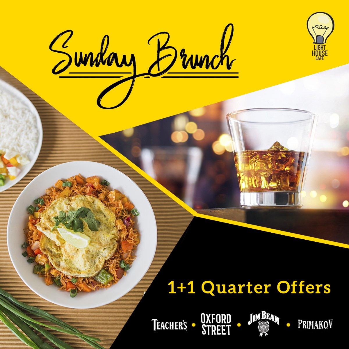 Make Sunday Brunch more fun with our 1 + 1 Quarter offers only at Light House Cafe Mumbai  #LHC #Worli #Mumbai #Zomato #Blogpost #bloggers #Weekday #CurlyTales #Weekends #Thingstodo #Mumbaifoodie #Foodgasm #mumbaifood #indianblogger #dailyfoodfeed #blogspot #Beer #BeerFest