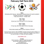 FEBRUARY HALF TERM CAMPS, ALL WELCOME 👍  Click link for more info 👇  #CornishFootball @cornwallfa https://t.co/54CK3jRoHD
