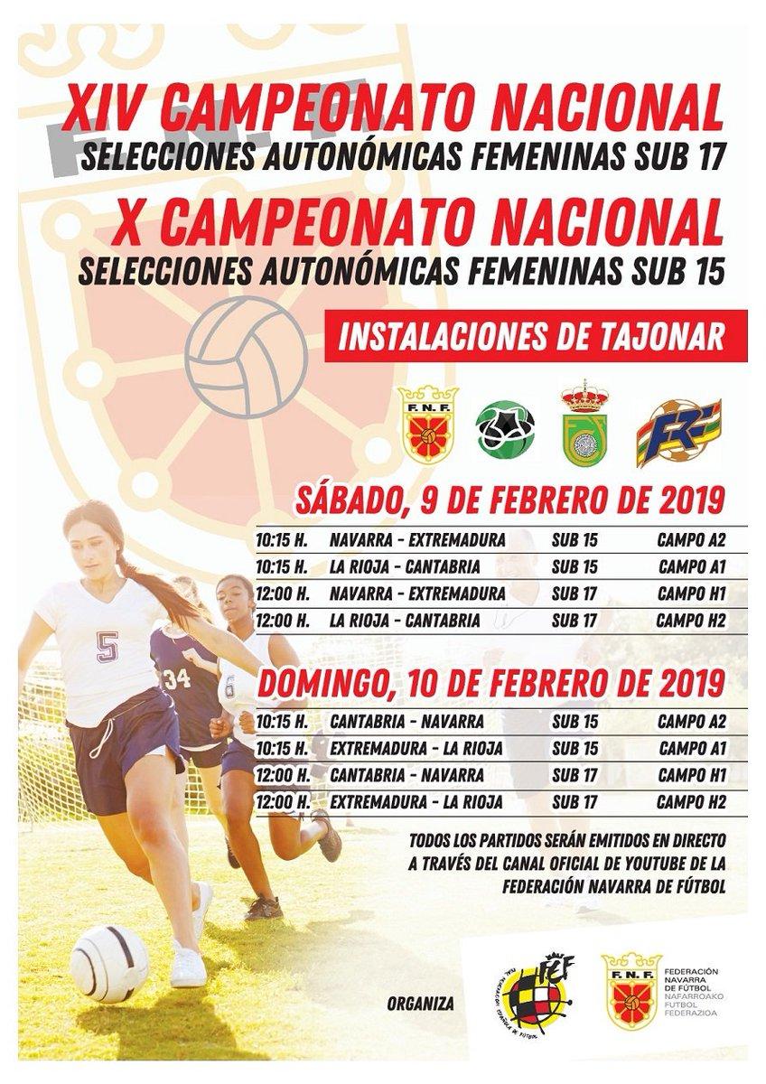 Desde La Banda - Fútbol Navarro (DLB-FN) | Cartel promocional del XIV Campeonato Nacional de Selecciones Autonómicas Femeninas Sub 17 y X Campeonato Nacional de Selecciones Autonómicas Femeninas Sub 15 que se disputará en Navarra.