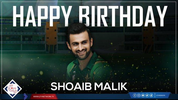 Happy 37th Birthday Shoaib Malik Read Details: