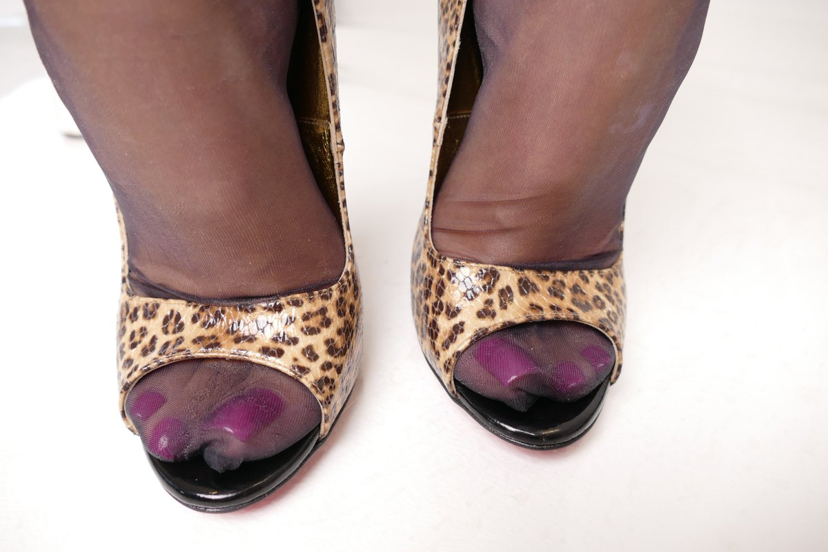 Sexy Nylon Feet In Heels