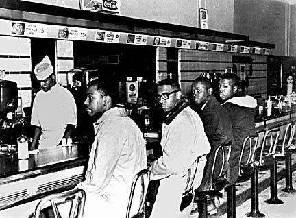 #OnThisDay February 1, 1960, four African American college students sat down at the lunch counter at Woolworth's Department Store in Greensboro and were refused service, launching a sit-in movement that would spread throughout NC and the South: https://bit.ly/2SdEHyh