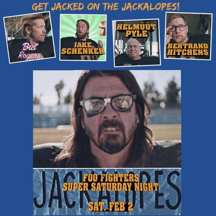 Happy FriDave!! 🏈📣🤘🎶💃 So ready for #SuperSaturdayNight !! @foofighters #jackalopes