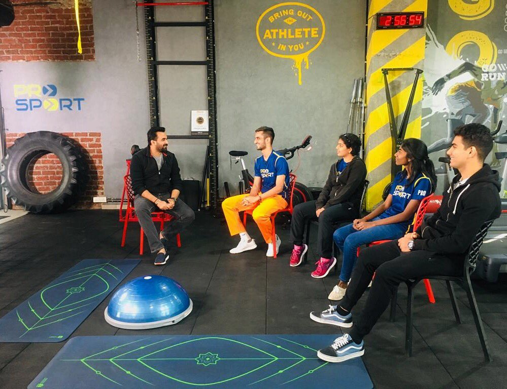 Great chatting with India's young emerging talent supported by Virat Kohli Foundation #BlueRising with training partner @prosport_fit