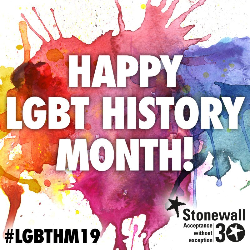 Today marks the beginning of #LGBTHM19, a month-long celebration of our community's rich history and traditions. We'll be sharing our staff's favourite LGBT heroes throughout the month! Take this chance to also learn about key dates for LGBT equality: https://www.stonewall.org.uk/about-us/key-dates-lesbian-gay-bi-and-trans-equality…