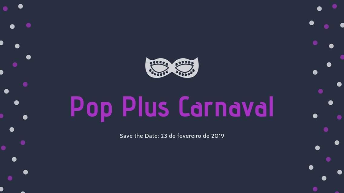 Vem aí o POP PLUS CARNAVAL dia 23 de fevereiro, sábado, em um espaço super charmoso pertinho do Metrô Ana Rosa! 🎉 Serão cerca de 30 marcas de moda Carnaval e moda praia plus size, além de baile, oficinas e muito mais! + infos no @popplusBR e no evento  http://bit.ly/poppluscarnaval2019…