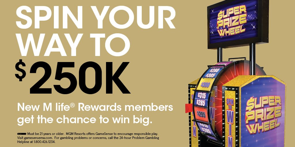 ddd4422d1 ... sign up for  MlifeRewards and get the chance to spin the Super Prize  Wheel to win  250