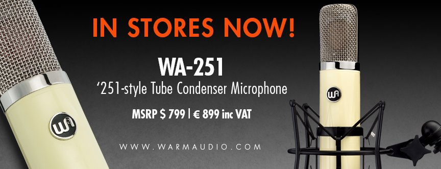 The WA-251 Tube Condenser Microphone is now shipping WORLD-WIDE! Contact your local participating authorized Warm Audio dealer! https://warmaudio.com/worldwide-dealers/… #warmaudio #teamwarm #wa251 #tubecondensermicrophone