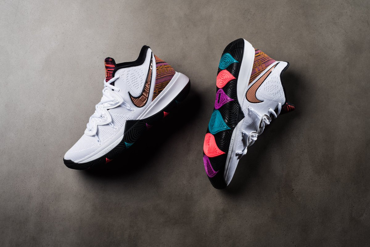 lowest price e354a a03e6 Now Available    Nike Kyrie 5 BHM - White Metallic Red Bronze     https   sneakerpolitics.com products nike-kyrie-5-bhm-white-metallic-red-bronze  … ...