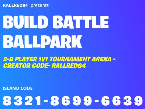 Build Battle Ballpark Island By Rallred84 Fortnite Creative