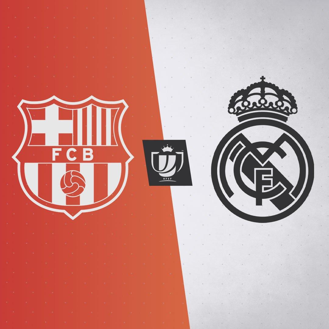 El #RealMadrid se enfrentará al #Barcelona en las semifinales de la #CopaDelRey. La ida de #ElClásico se disputará en el Camp Nou y la vuelta en el #EstadioSantiagoBernabéu. #RMCopa #HalaMadridYNadaMás #MadridismoUnido #APorLa20