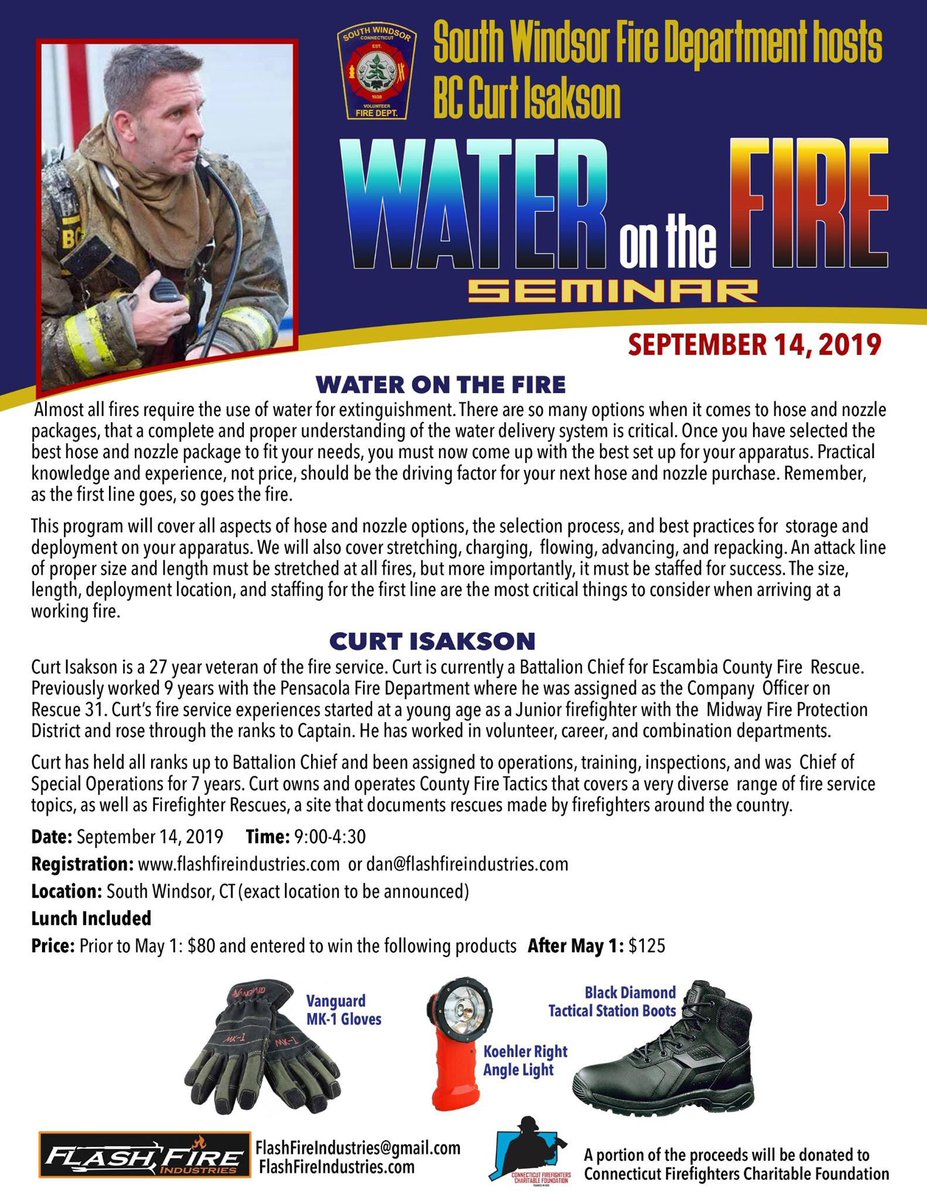 Great training opportunity coming in September. Click on the link for registration info. https://flashfireindustries.com/