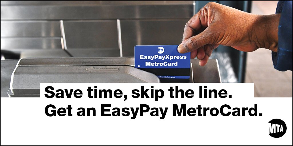 Nyct Subway Wear A Mask On Twitter Easypay Metrocard Links To Your Credit Card It S Secure And If Lost Or Stolen Your Balance Is Always Protected Visit Https T Co Hhnsp1xqbb Https T Co 46mjkyjz0t