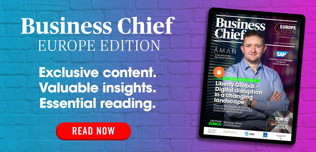 OUT NOW! February's edition of Business Chief Europe is live!  Featuring exclusive content from:  - @LibertyGlobal - @SAP - @INEApl - @AmanResorts - @ATT - @Pod_Point  - @OSM_Maritime - @nuggetsPAYandID   Plus much, much more - enjoy!   READ 👉 https://bit.ly/2Ux7N9e