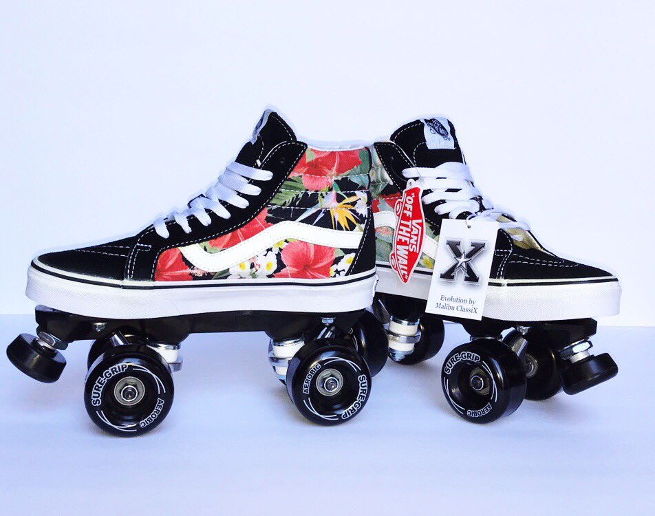 ... Vans SK8 Hi- custom designed Sneaker Roller Skates by Malibu ClassiX   SneakerRollerskates  VansRollerskates  Aloha  Love  Peace  Rollerskates   fitness ... b1b2b3072