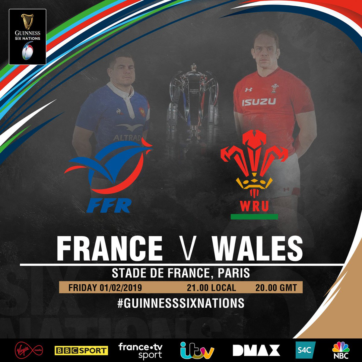 It's the first #GuinnessSixNations match, it's what we've all been waiting for. Dive into the detail. 📋  Preview: https://www.sixnationsrugby.com/preview/preview-france-v-wales-2/#preview…