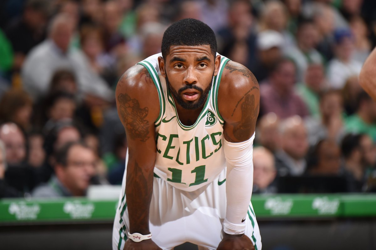 """Kyrie Irving when asked about his future with the Celtics:   Oct. 4, 2018: """"If you guys will have me back, I plan on re-signing here.""""  Feb. 1, 2019: """"Ask me July 1...I don't owe anybody s--t."""""""