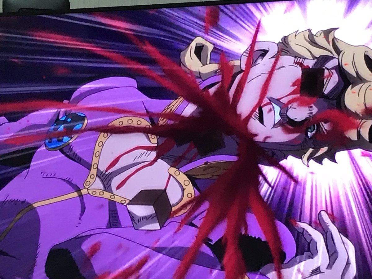 そしてジョルノはベイビィフェイス(息子)と遭遇したことによって、体の部品を産み出すことができたぞ! jojo_anime  pic.twitter.com/nsP4BRiakv