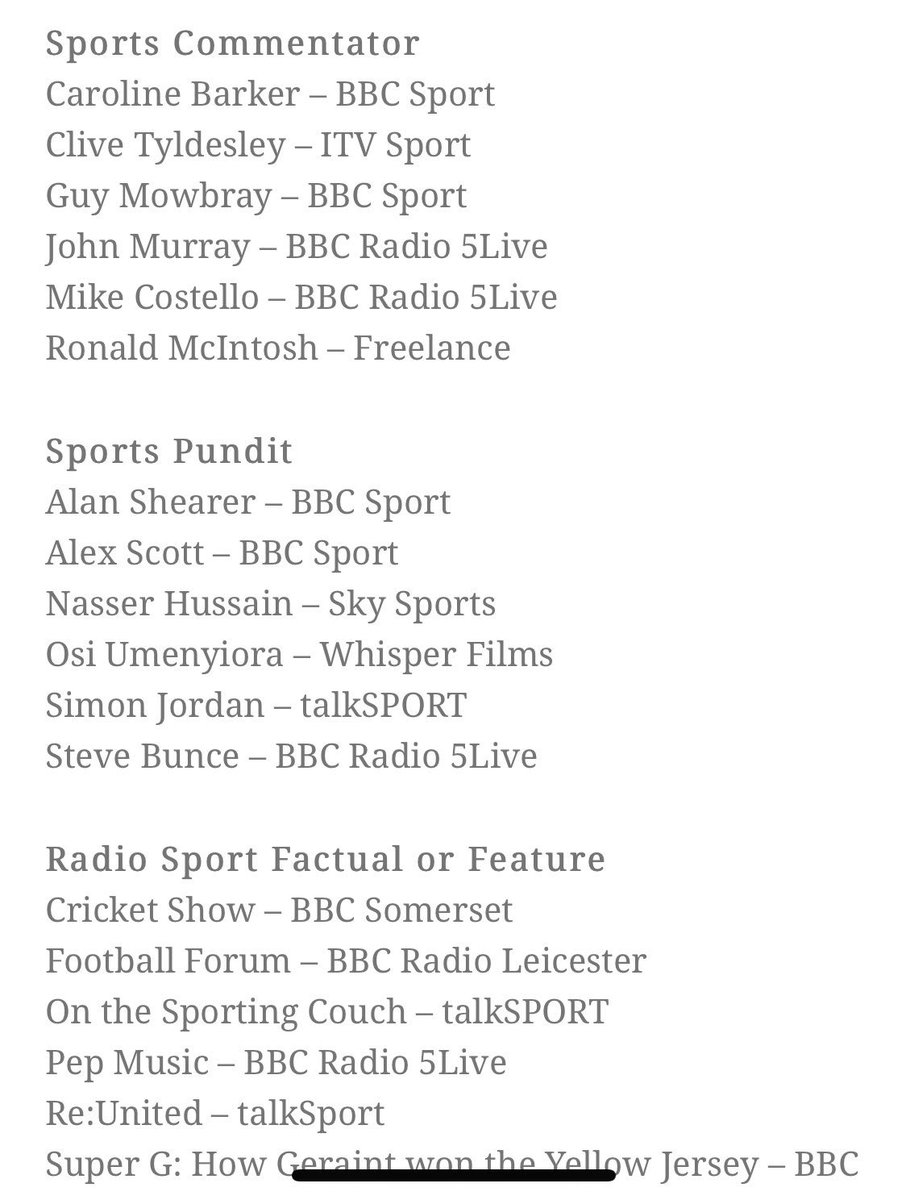 Wow, well this certainly helps get the weekend started!! What an honour it is to even be nominated for an @SportSJA ... to be in this category with the names on the list, I'm like OH MY GOODNESS,ha 😳 my smile is BIG 😊