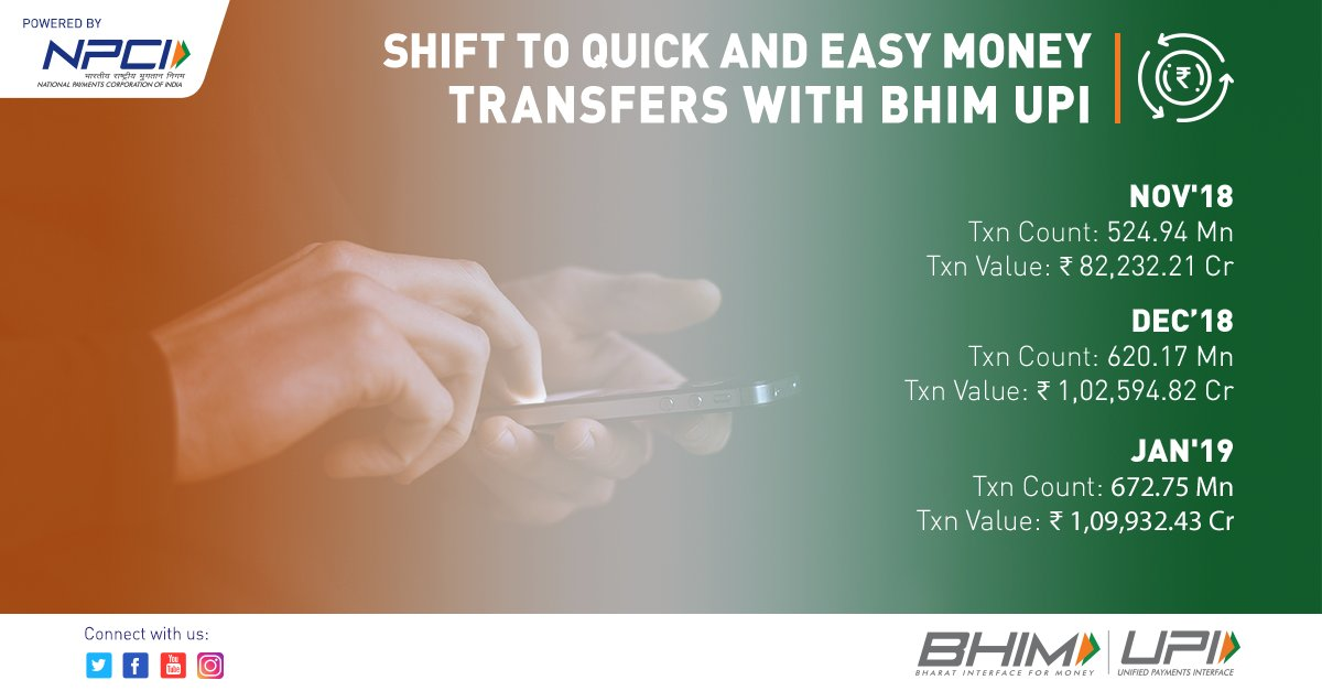 Cashless transactions have now become simpler and convenient thanks to BHIM UPI.  @dilipasbe   #DigitalIndia #InstantPayments #HighOnUPI #NPCI