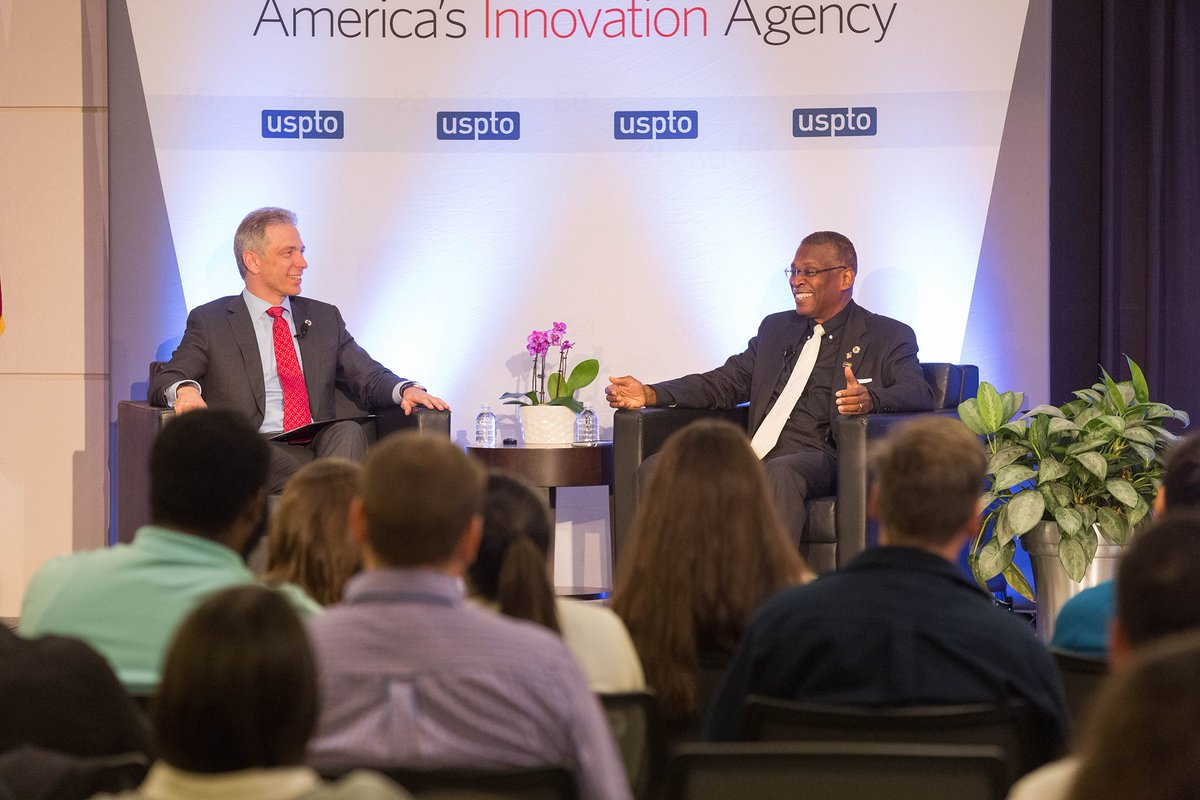 #YearInReview: Take a look back at our top moments and tweets of 2019. Lonnie Johnson joined #USPTO Director Andrei Iancu for an intimate talk on his innovation: https://t.co/lEzGDuh06q.