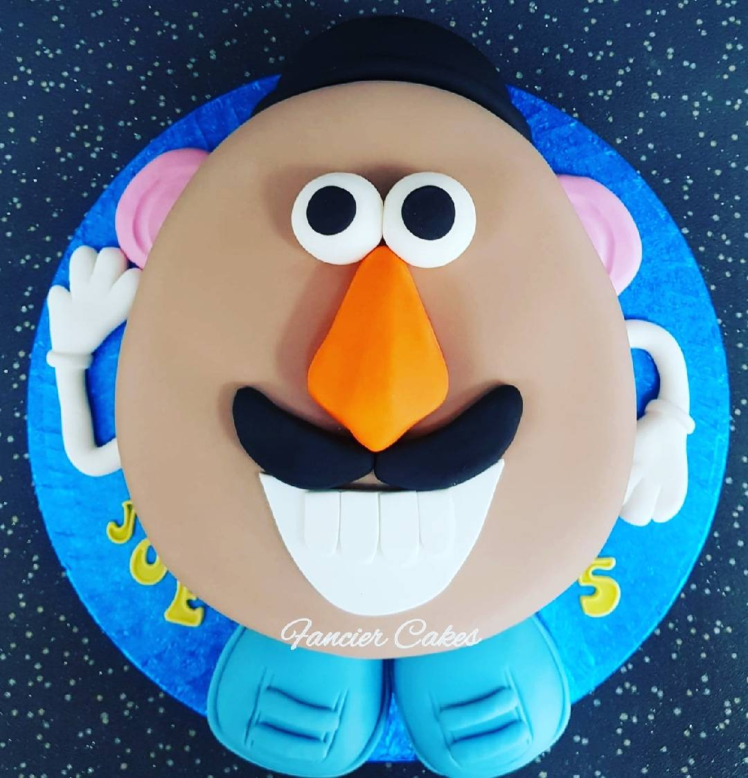 Amazing Fancier Cakes Auf Twitter A Very Cool 2D Mr Potato Head Birthday Personalised Birthday Cards Paralily Jamesorg