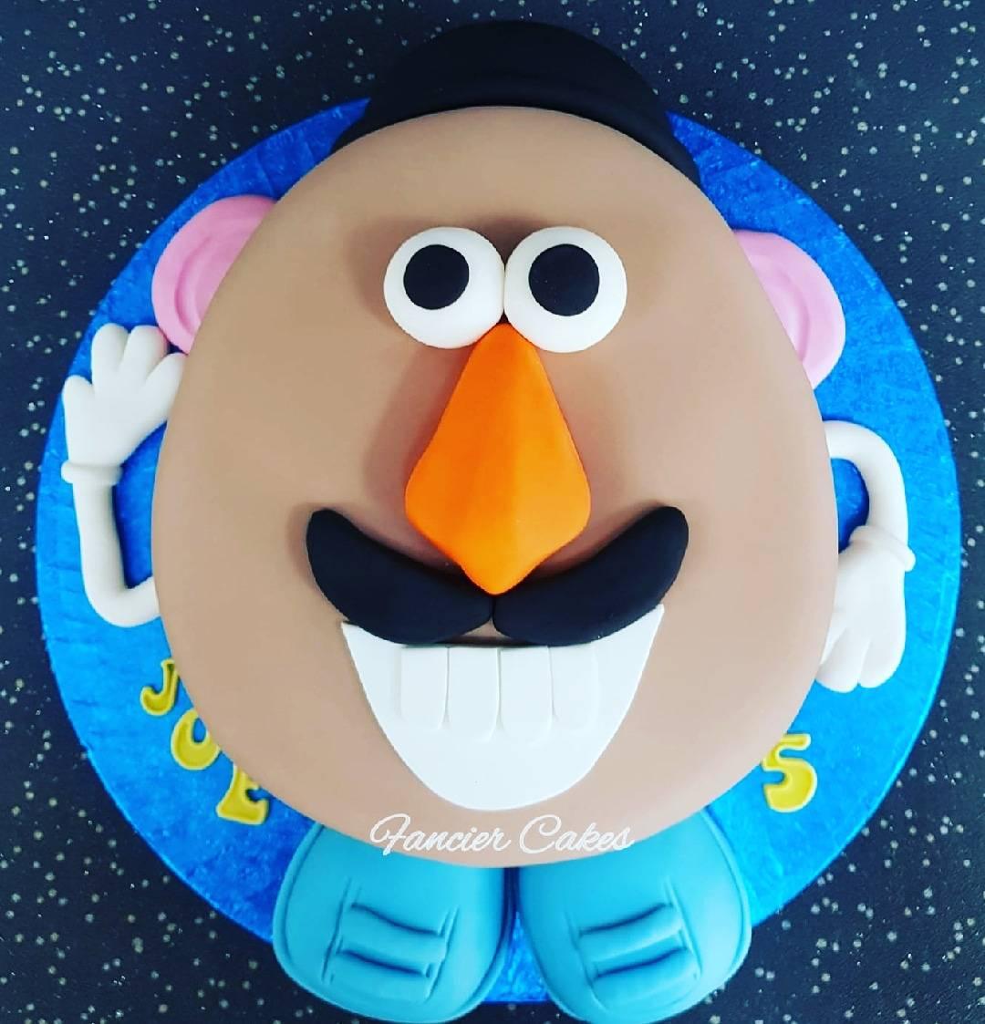 Phenomenal Fancier Cakes Auf Twitter A Very Cool 2D Mr Potato Head Birthday Personalised Birthday Cards Veneteletsinfo