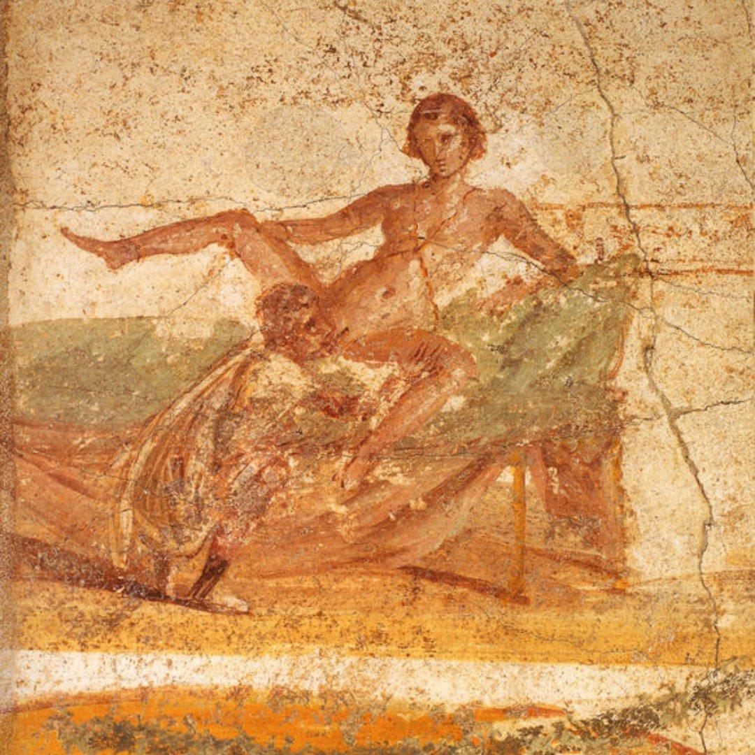 A roman erotic fresco painting
