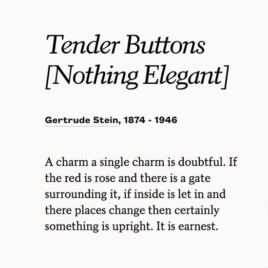 Gertrude Stein Poems 1