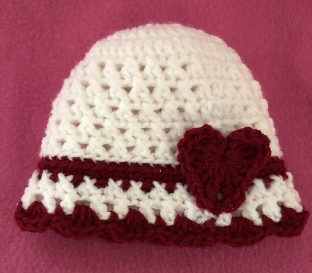 5459b156369 ... the latest addition to my  etsy shop  Valentine s Day Crocheted Baby  Caps https   etsy.me 2RtNgk0  accessories  hat  babyshower  valentinesday   newborns ...