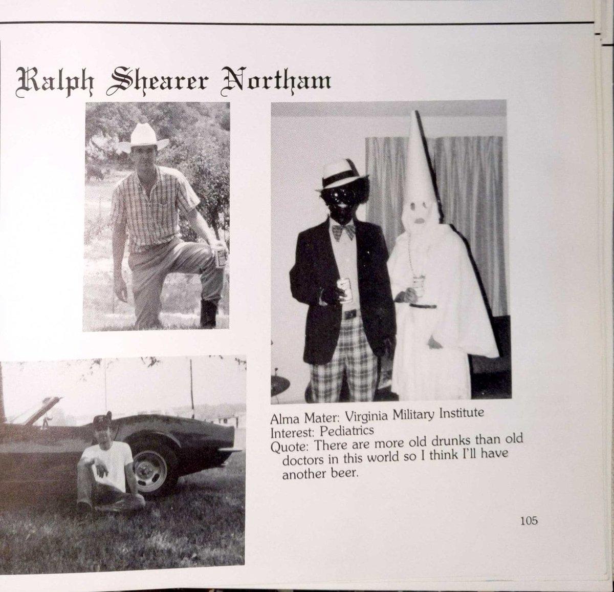 8a25032fd284d Va. Gov. Northam's medical school yearbook page shows men in blackface, KKK  robe