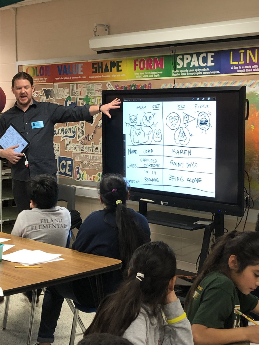 When art and writing meet with children and food, mentors have the best of times! Thank you, Mr. Hale, for an amazing day at Eiland!